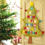 hanging xmas tree advent calendar